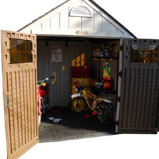 樹脂製ホームデザイン物置アルパイン中ガーデンハウス (1)