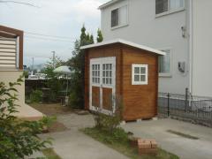 カッコよい木製物置BergベルクCガーデンハウスストックヤード (22)
