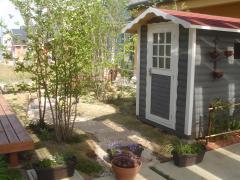 ガーデンハウス木製物置BergBベルクストックヤード (7)