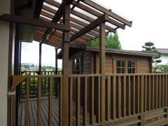 ガーデンハウス木製物置BergBベルクストックヤード (5)