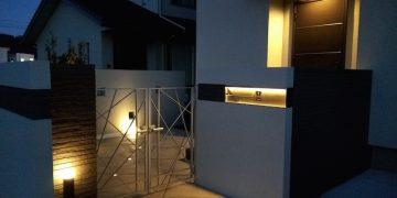LED照明でお庭を楽しむナイトガーデン実例 (4)
